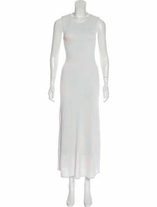 Christian Dior Sleeveless Maxi Dress blue