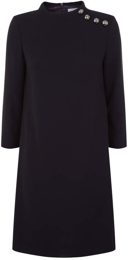 Goat Eloise Button Neck Tunic Dress