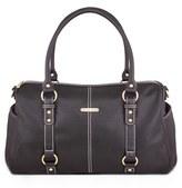 Timi & Leslie Infant 'Madison' Faux Leather Diaper Bag - Black