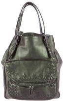 Bottega Veneta Metallic Leather Bucket Bag