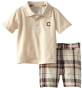 Carter's Watch the Wear Baby-Boys Infant 2 Piece Thick Letter C Embroidery Polo Top With Shorts