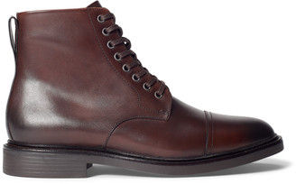 Ralph Lauren Asher Leather Cap-Toe Boot