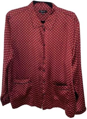 Madewell Burgundy Silk Top for Women
