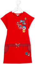 Little Marc Jacobs badges dress - kids - Cotton/Spandex/Elastane/Viscose - 2 yrs
