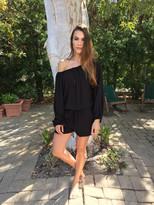 Tysa Wolf Romper in Black