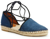 Frye Leo Two-Piece Denim Espadrille Shoes