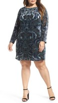Vince Camuto Plus Size Women's Burnout Velvet Sheath Dress