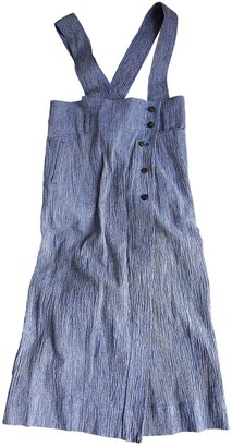 Issey Miyake Navy Cotton Dress for Women Vintage