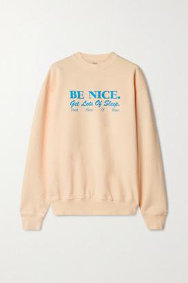 Sporty & Rich Printed Cotton-jersey Sweatshirt - Peach