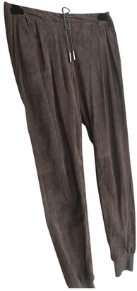 Fabiana Filippi Brown Suede Trousers for Women