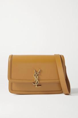 Saint Laurent Solferino Medium Leather Shoulder Bag - Mustard