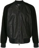 Neil Barrett contrast sleeve bomber jacket