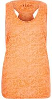 River Island Womens Coral double layer tank top