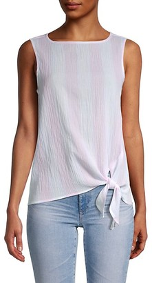 BeachLunchLounge Bobbi Crinkled Cotton Side-Tie Top