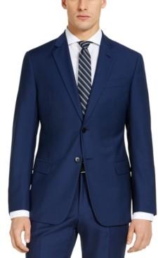 AX Armani Exchange Men's Modern-Fit High Blue Pindot Suit Jacket