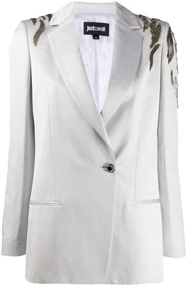 Just Cavalli Embroidered Fitted Blazer