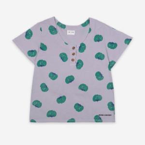 Bobo Choses Tomatoes Buttoned T-shirt - organic cotton | grey | XS - Grey/Grey