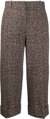 Circolo 1901 Checked Cropped Trousers