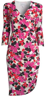 Milly Eleanora Wrap Silk Dress