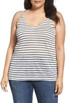 City Chic Plus Size Women's V Bar Stripe Tank