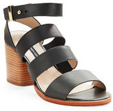 French Connection Ciara Buckle Strap Sandal Heels