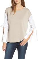 Socialite Women's Tie Sleeve Sweatshirt