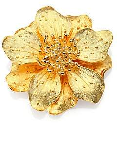 Kenneth Jay Lane Women's Metallic Anemone Flower Pin
