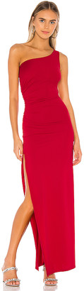 superdown Mabel Ruched Maxi Dress