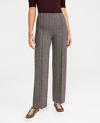 Ann Taylor The Side Zip Full Length Knit Pant