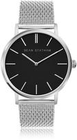 Sean Statham Stainless Steel Unisex Quartz Watch w/Black Dial