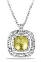 David Yurman Chatelaine Pave Bezel Enhancer with Lemon Citrine and Diamonds in 18K White Gold