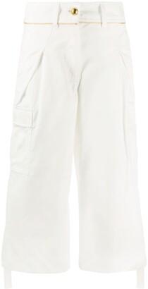 Sacai Cropped Straight-Leg Cargo Trousers