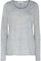 Yummie by Heather Thomson Mélange Stretch-Jersey Pajama Top