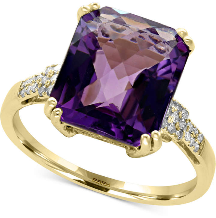 Effy Amethyst (5 ct. t.w.) and Diamond (1/10 ct. t.w.) Ring in 14k Gold
