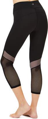 S2 Sportswear Women's Leggings Black - Black Mesh-Stripe Color Block Activewear Leggings - Women