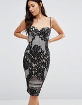 Boohoo Lace Overlay Strappy Dress