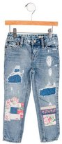 Ralph Lauren Girls' Patchwork Skinny Jeans