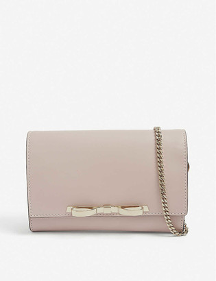 RED Valentino Bow leather clutch bag
