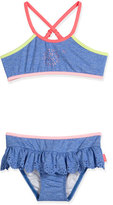 Seafolly Jewel Cove Colorblock Bikini, Denim Blue, Size 2-7