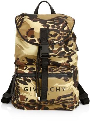 Givenchy Animalia Light3 Camo Logo Backpack