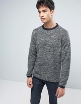 Brave Soul Mens Crew Neck Knitted Sweater