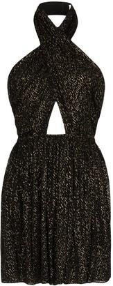 Saint Laurent Draped Cut-Out Mini Dress