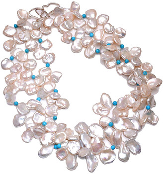 Arthur Marder Fine Jewelry Silver, Pearl & Turquoise Necklace