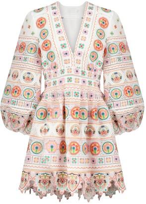 Zimmermann Brighton embroidered cotton minidress
