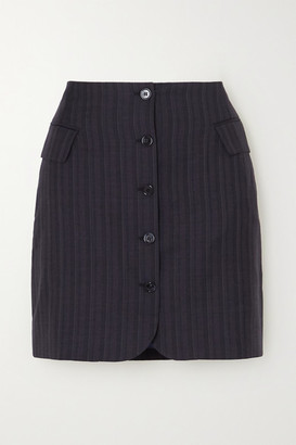 Acne Studios Ivet Pinstriped Wool Mini Skirt - Navy