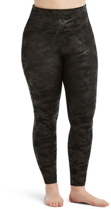 Spanx Camo Faux Leather Leggings