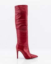 Le Château Italian-Made Leather Knee High Slouch Boot
