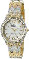 Burgi Women's BUR127TTG Analog Display Japanese Quartz Two Tone Watch