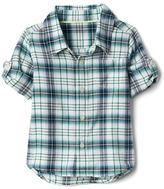 Gap Plaid flannel convertible shirt