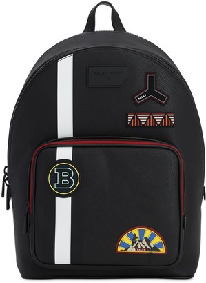 Bally Rubberized Backpack W/ Pvc Patches
